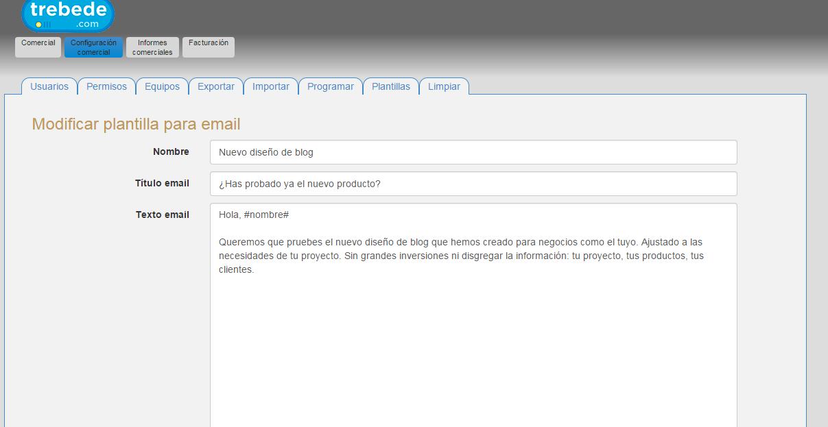 Enviar correos electrónicos con CRM es fácil, usando las plantillas de correo de nuestro programa de gestión comercial online