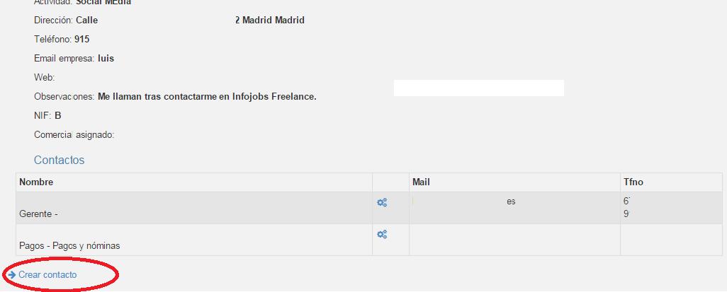 Con módulos CRM podemos crear contactos múltiples en nuestro CRM programa de gestión comercial online